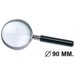 Lupa de lectura q-connect, cristal óptico antiderformación, 3 aumentos, diámetro de 90 mm.