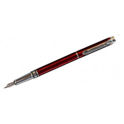 Pluma estilográfica belius colección nuremberg, lacada en color rojo, presentación en estuche.