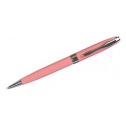 Bolígrafo belius colección marsella, lacado en color coral, presentación en estuche.