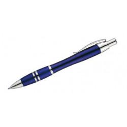 Bolígrafo retráctil belius colección kassel, lacado en color azul, presentación en estuche.