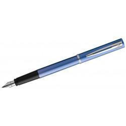 Pluma estilográfica waterman colección allure, lacada en color azul brillante, presentación en estuche.