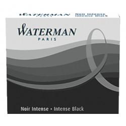 Recambio pluma estilográfica waterman, color negro, caja de 8 uds.