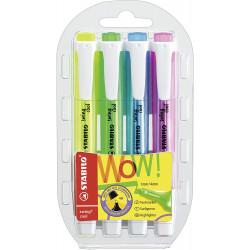 Marcador fluorescente stabilo swing cool en colores surtidos, estuche de 4 uds..