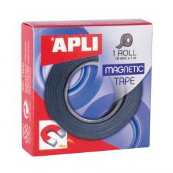 Cinta adhesiva magnética apli en rollo de 19 mm x 1 mts.