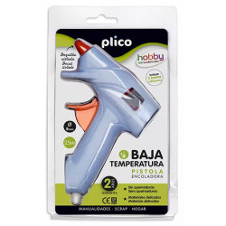 Pistola termofusible plico mini 25 w. baja temperatura.