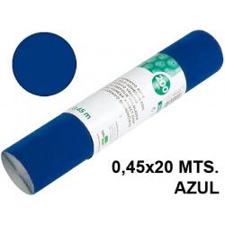 Rollo adhesivo liderpapel acabado brillo de 0,45 x 20 mts. en color azul.