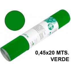 Rollo adhesivo liderpapel acabado brillo de 0,45 x 20 mts. en color verde.