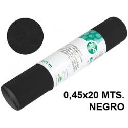 Rollo adhesivo liderpapel acabado brillo de 0,45 x 20 mts. en color negro.