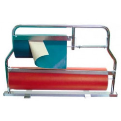Portarrollos de mostrador corte de papel horizontal para bobinas de 62-31 cm.