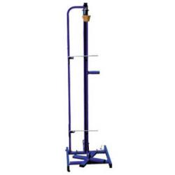 Portarollos de mostrador corte de papel vertical con ruedas para bobinas de hasta 1,20 mts.
