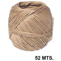 Cuerda de cañamo en color marrón, bobina de 52 mts.