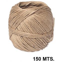 Cuerda de cañamo en color marrón, bobina de 150 mts.