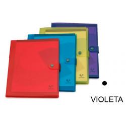 Carpeta congreso de polipropileno translucido en formato din a-4 en color violeta.