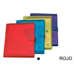 Carpeta congreso de polipropileno translucido en formato din a-4 en color rojo.