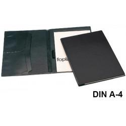 Carpeta congreso de pvc en formato din a-4 en color negro.
