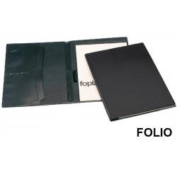 Carpeta congreso de pvc en formato folio en color negro.