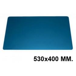 Vade de sobremesa durable en formato 530x400 mm. color azul oscuro.