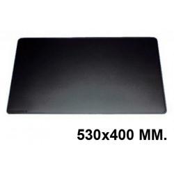 Vade de sobremesa durable en formato 530x400 mm. color negro.