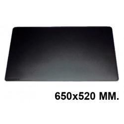 Vade de sobremesa durable en formato 650x520 mm. color negro.