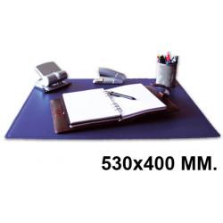 Vade de sobremesa q-connect en formato 530x400 mm. color azul.