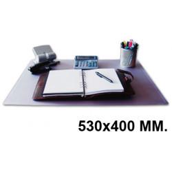 Vade de sobremesa q-connect en formato 530x400 mm. color transparente.