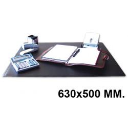 Vade de sobremesa q-connect en formato 630x500 mm. color negro.