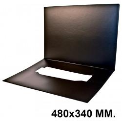 Vade de sobremesa doble con bolsillo interior alces 250 en formato 480x340 mm. color negro.