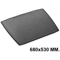 Vade de sobremesa durable artwork con funda transparente antirreflectante en formato 680x530 mm. color negro.