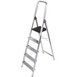 Escalera de aluminio q-connect con 5 peldaños de 1062x483x1675 mm.