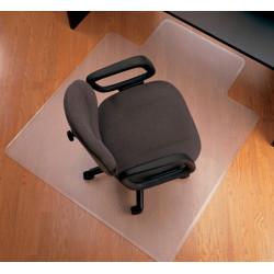 Alfombra protectora para suelos duros en pvc de 2,5 mm. q-connect en formato 91,4x121,9 cm. color transparente.
