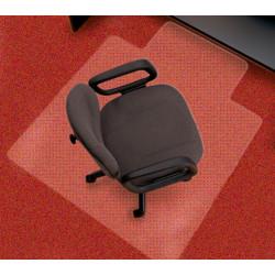Alfombra protectora para suelos con moqueta en pvc de 2,5 mm. q-connect en formato 114,3x134,6 cm. color transparente.