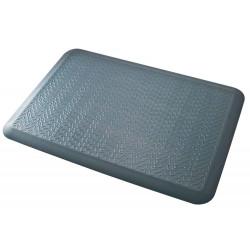 Alfombra de suelo antideslizante y ergonómica de poliuretano q-connect en formato 94x63,5x12,5 cm. color gris.