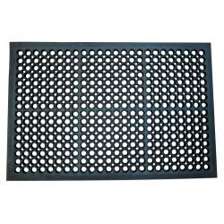 Alfombra de suelo antifatiga q-connect en formato 90x60 cm. color negro.