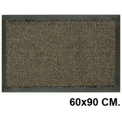 Alfombra de suelo antipolvo en polipropileno de 5 mm. paperflow en formato 60x90 cm. color gris.