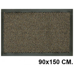 lfombra de suelo antipolvo en polipropileno de 5 mm. paperflow en formato 90x150 cm. color gris.