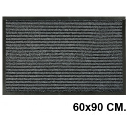 Alfombra de suelo antipolvo en polipropileno de 8 mm. paperflow en formato 60x90 cm. color gris.