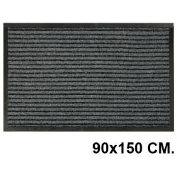 Alfombra de suelo antipolvo en polipropileno de 8 mm. paperflow en formato 90x150 cm. color gris.