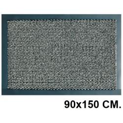 Alfombra de suelo antipolvo en poliamida de 7 mm. paperflow en formato 90x150 cm. color gris.