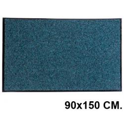 Alfombra de suelo antipolvo en poliamida reciclada de 8 mm. paperflow en formato 90x150 cm. color gris.