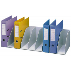 Organizador de armario en poliestireno de alto impacto paperflow en formato 80,2x21x29 cm. color gris.