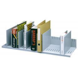 Organizador de armario en poliestireno de alto impacto paperflow en formato 80,2x21x27,5 cm. color gris.