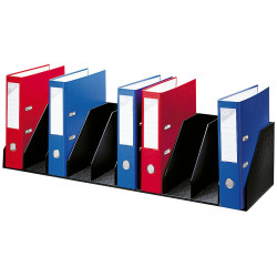 Organizador de armario en poliestireno de alto impacto paperflow en formato 80,2x21x29 cm. color negro.