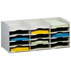 Modulo archivador con 15 casilleros paperflow en formato 75,5x31,3x32,7 cm. color gris.