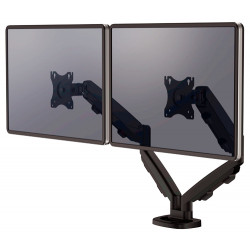 Brazo para monitor doble en horizontal fellowes eppa™, color negro.