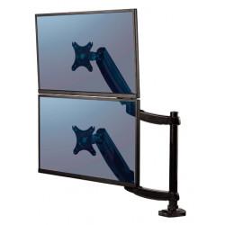 Brazo para monitor doble en vertical fellowes platinum series™, color negro.