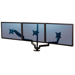 Brazo para monitor triple en horizontal fellowes platinum series™, color negro.