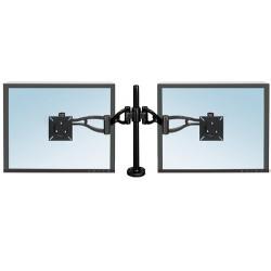 Brazo para monitor doble fellowes professional series en color negro.