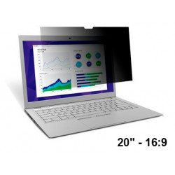 """Filtro de privacidad 3m™ para monitor panorámico de 20"""" 16:9"""