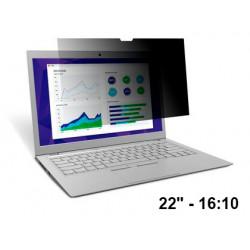"""Filtro de privacidad 3m™ para monitor panorámico de 22"""" 16:10"""