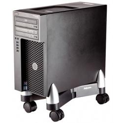 Soporte para cpu fellowes office suites™, plástico, ajustable, 4 ruedas, color negro/plata.